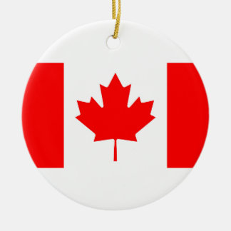 National Flag of Canada, maple leaf, high detailed Ceramic Ornament