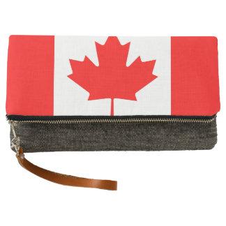 National Flag of Canada, maple leaf, high detailed Clutch