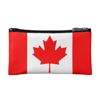 National Flag of Canada, maple leaf, high detailed Cosmetic Bag