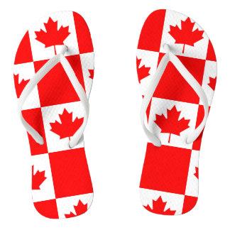 National Flag of Canada, maple leaf, high detailed Flip Flops