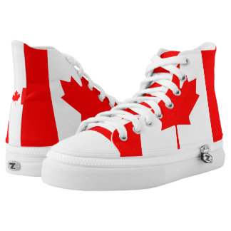 National Flag of Canada, maple leaf, high detailed High Tops