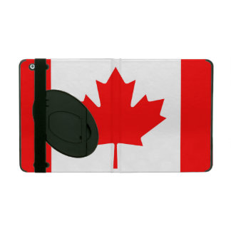 National Flag of Canada, maple leaf, high detailed iPad Folio Case