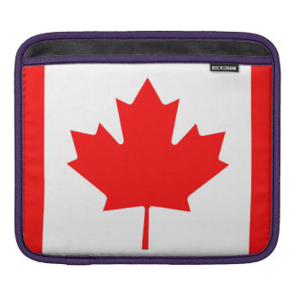 National Flag of Canada, maple leaf, high detailed iPad Sleeve
