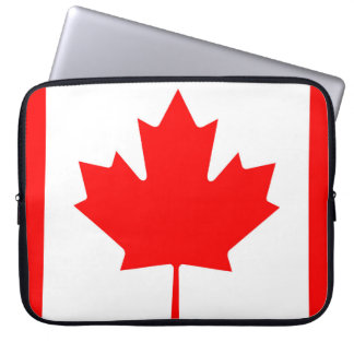 National Flag of Canada, maple leaf, high detailed Laptop Sleeve