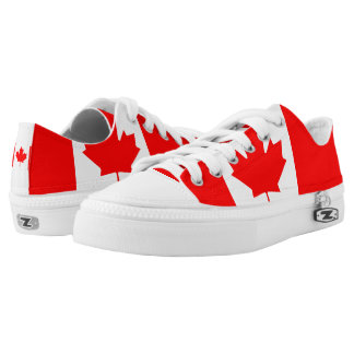 National Flag of Canada, maple leaf, high detailed Low-Top Sneakers