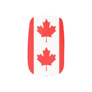 National Flag of Canada, maple leaf, high detailed Minx Nail Art