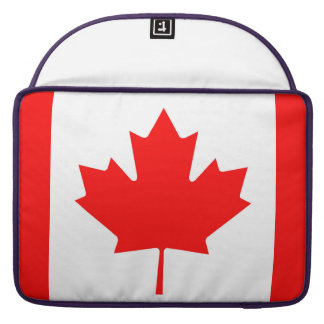 National Flag of Canada, maple leaf, high detailed Sleeve For MacBook Pro