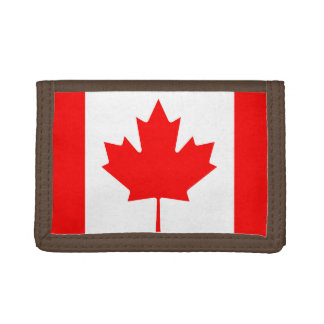 National Flag of Canada, maple leaf, high detailed Tri-fold Wallet