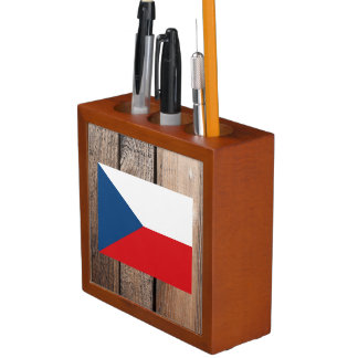 National Flag of Czech Republic Desk Organizer