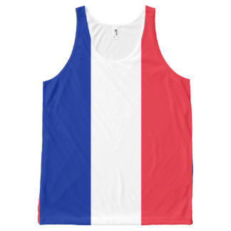 National Flag of France All-Over-Print Tank Top