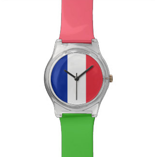 National Flag of France Wrist Watch