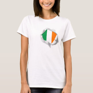 National Flag Of Ireland True Colors Torn T-Shirt