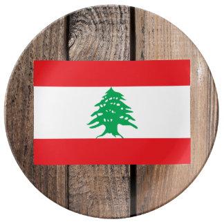 National Flag of Lebanon Porcelain Plate