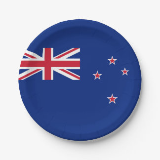 National Flag of New Zealand 7 Inch Paper Plate