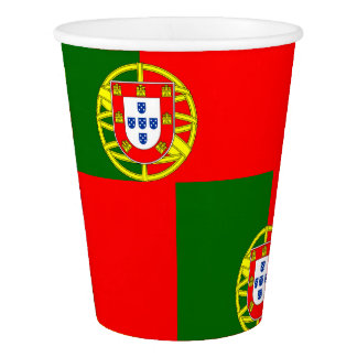 National Flag of Portugal Paper Cup