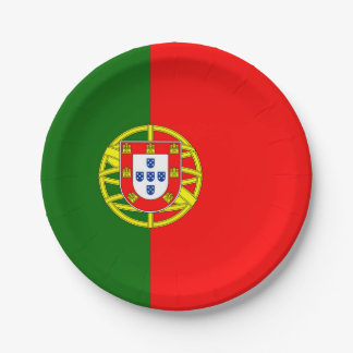 National Flag of Portugal Paper Plate