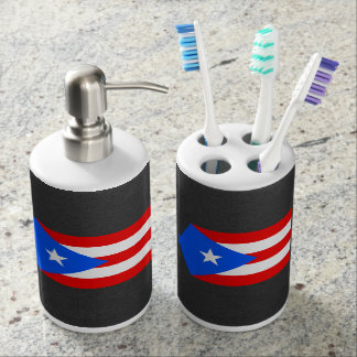 National Flag of Puerto Rico Bathroom Set