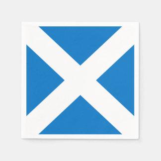 National Flag of Scotland Saint Andrew's Cross Disposable Napkins
