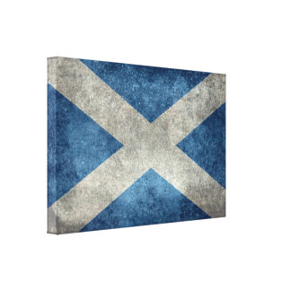 National flag of Scotland, Vintage version Canvas Print