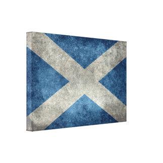 National flag of Scotland, Vintage version Canvas Print