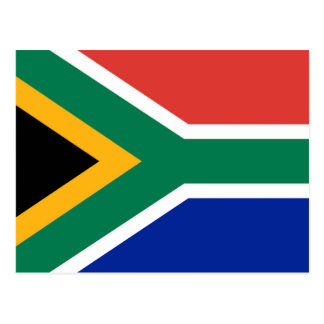 National flag of South Africa - Authentic version Postcard