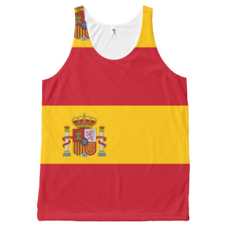 National Flag of Spain All-Over-Print Tank Top