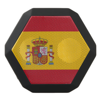 National Flag of Spain Black Bluetooth Speaker