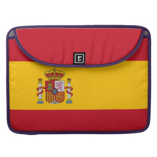 National Flag of Spain Sleeve For MacBook Pro