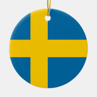 National Flag of Sweden Ceramic Ornament