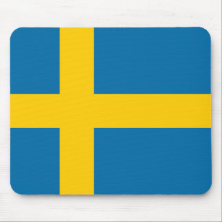 National Flag of Sweden Mouse Pad