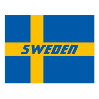 National Flag of Sweden Postcard