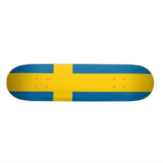 National Flag of Sweden Skate Board