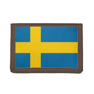 National Flag of Sweden Trifold Wallet