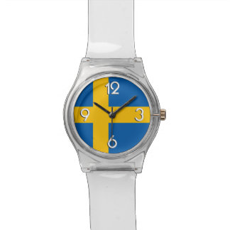 National Flag of Sweden Wrist Watches