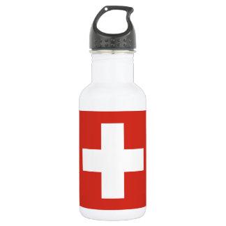 National Flag of Switzerland 532 Ml Water Bottle