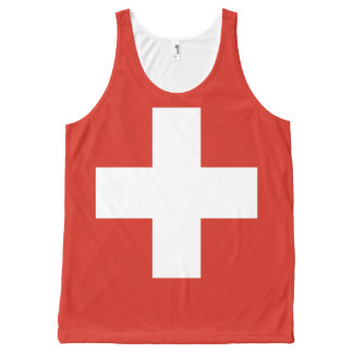 National Flag of Switzerland All-Over-Print Tank Top