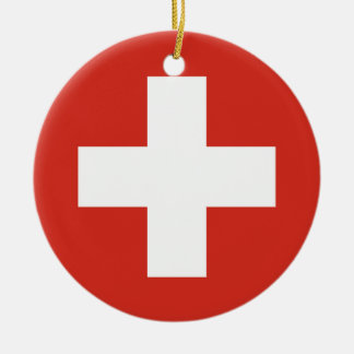 National Flag of Switzerland Ceramic Ornament