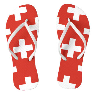 National Flag of Switzerland Flip Flops
