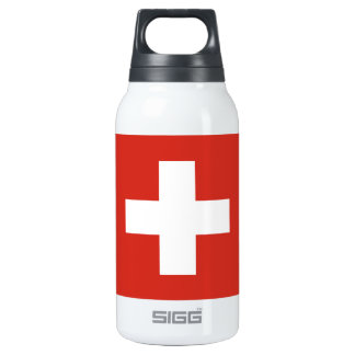 National Flag of Switzerland Insulated Water Bottle
