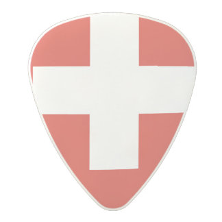 National Flag of Switzerland Polycarbonate Guitar Pick