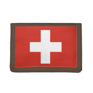 National Flag of Switzerland Trifold Wallet
