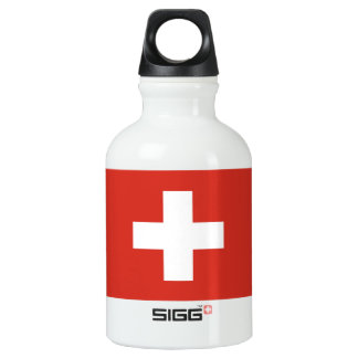 National Flag of Switzerland Water Bottle