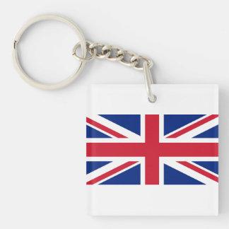 National Flag of the United Kingdom UK, Union Jack Double-Sided Square Acrylic Keychain
