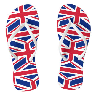 National Flag of the United Kingdom UK, Union Jack Flip Flops