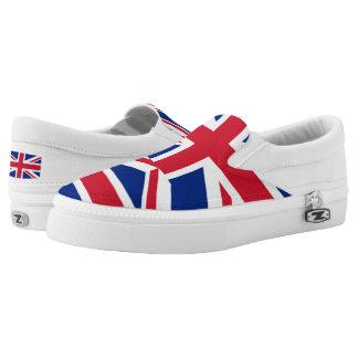 National Flag of the United Kingdom UK, Union Jack Slip-On Sneakers