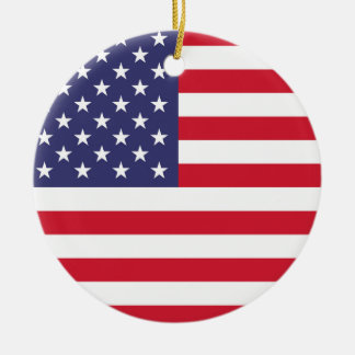 National Flag of the United States of America Ceramic Ornament