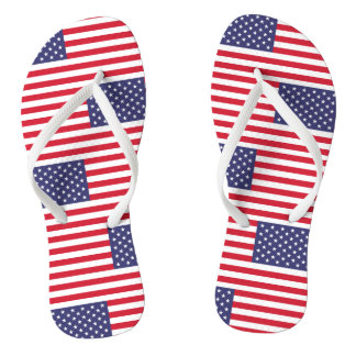 National Flag of the United States of America Flip Flops