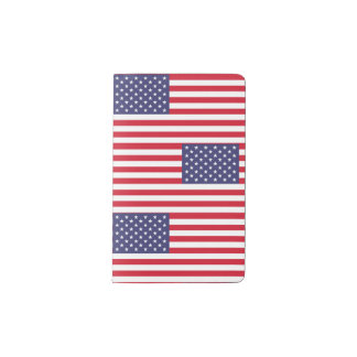 National Flag of the United States of America Pocket Moleskine Notebook