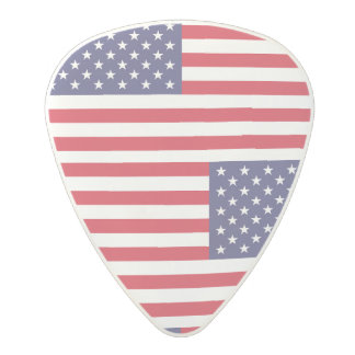 National Flag of the United States of America Polycarbonate Guitar Pick