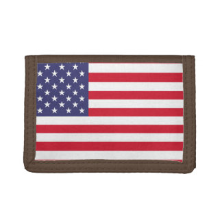 National Flag of the United States of America Trifold Wallet